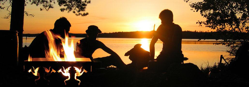 Zonsondergang met Draken vuurkorf
