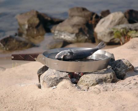 Prairie pan op strand