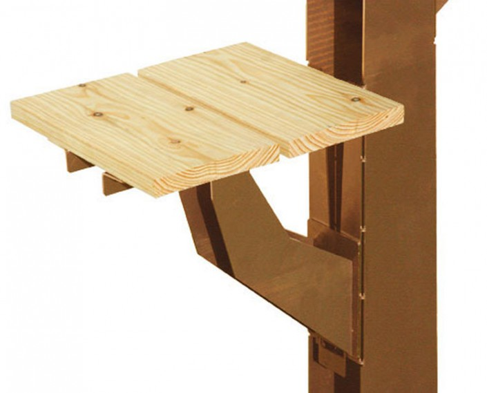 Vogelboomhut detail plank